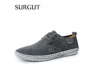Genuine Suede Leather Flat Oxford Shoes